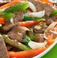 Photo de la recette Boeuf sauté à la sauce soja