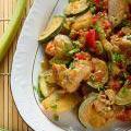 Photo de la recette Cabillaud aux poivrons