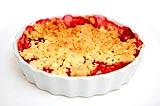 Photo de la recette Crumble aux fruits rouges, noix de coco et glace vanille