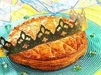 Photo de la recette Galette des rois aux pommes