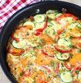 Photo de la recette Omelette aux courgettes et aux herbes de provence