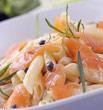 Photo de la recette Pâtes au chaud froid de saumon