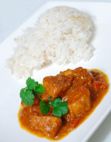 Photo de la recette Poulet à l\'indienne (curry/tomate)