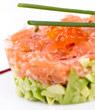 Photo de la recette Tartare de saumon (recettes de Noël)