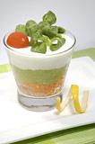 Photo de la recette Verrines de guacamole au crabe et pamplemousse